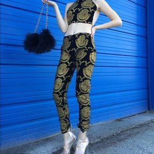 Black furr purse